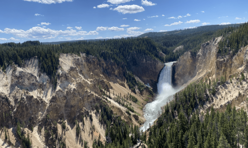 Stop #21: Day 3 (Yellowstone Falls and West Thumb)